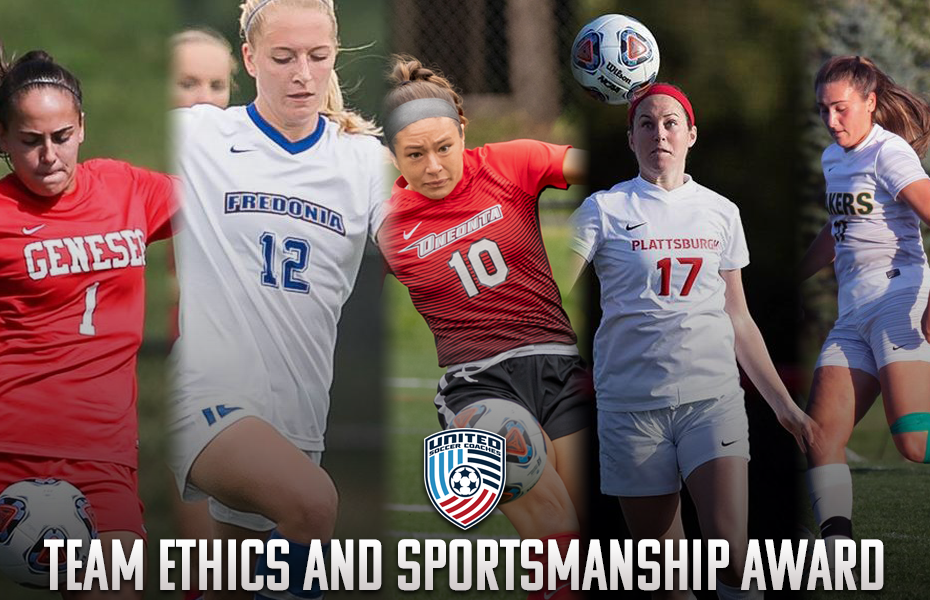 Five SUNYAC women's soccer teams earn United Soccer Coaches Team Ethics and Sportsmanship Award