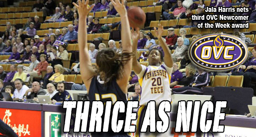 Harris earns third OVC Newcomer of the Week award