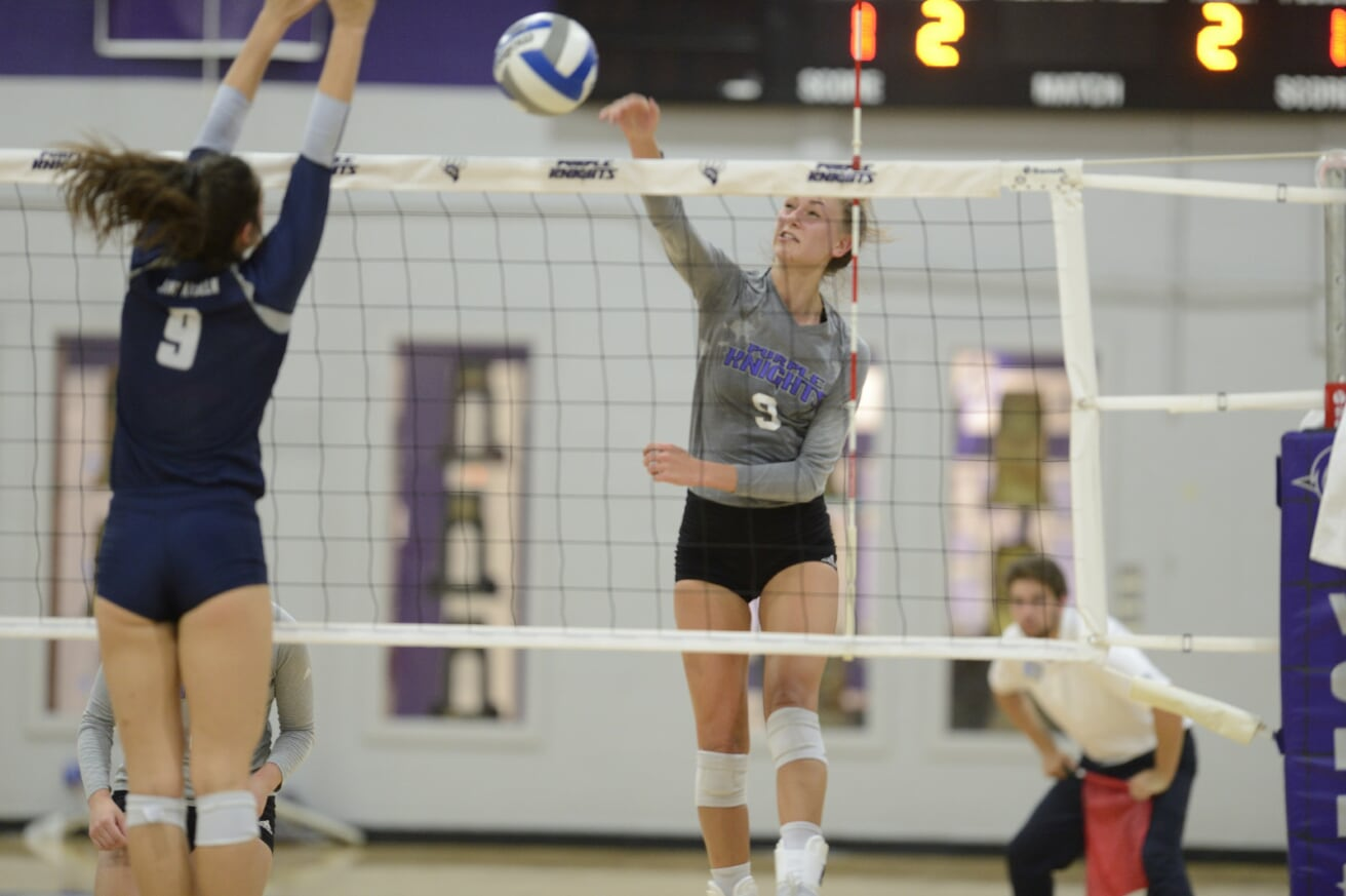 Purple Knights Earn Western New York Volleyball Split With Four-Set Triumph Over Roberts Wesleyan