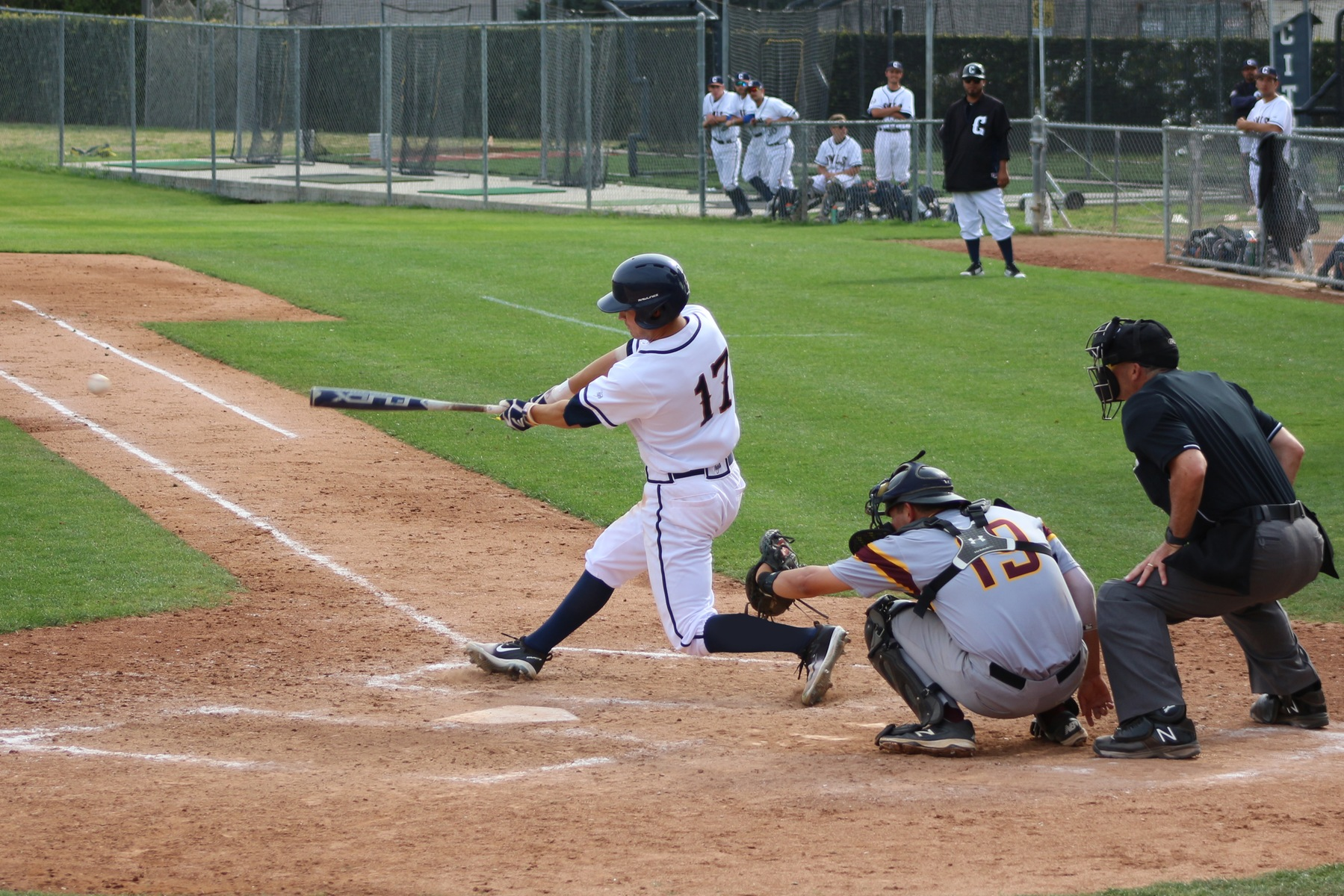 Sophomore left fielder Thomas Chavez.