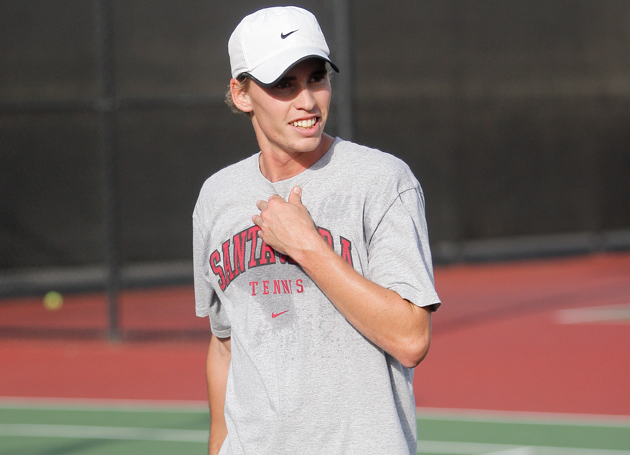 No. 47 Men's Tennis Wins First Match Of WCC Tournament, Sweeping Gonzaga 4-0