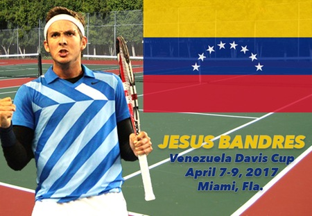 Washington University Men's Tennis Assistant Coach Jesus Bandres to Represent Venezuela in Davis Cup