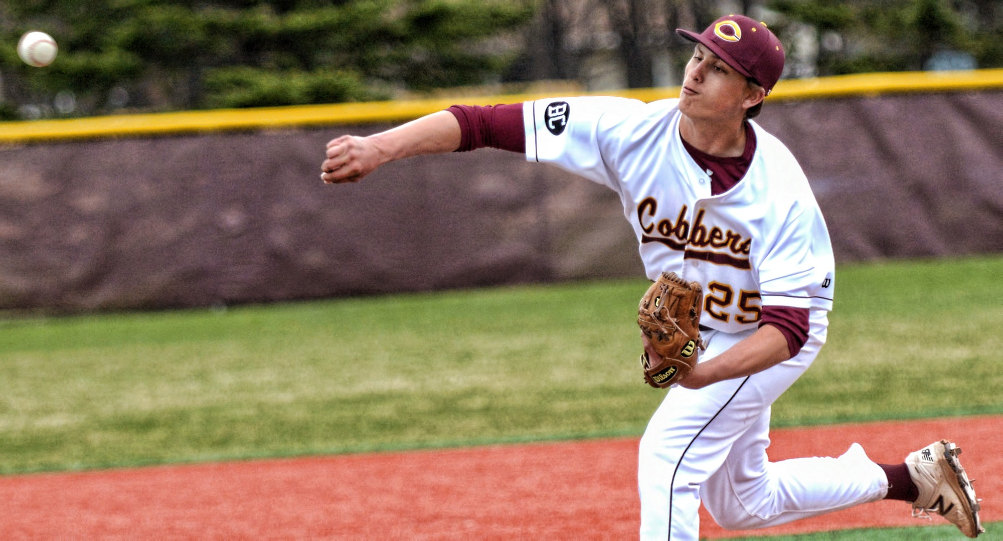 Sophomore Alex Erickson was one of four Cobber pitcher who limited Dominican to only two earned runs and five hits in their game against Dominican.