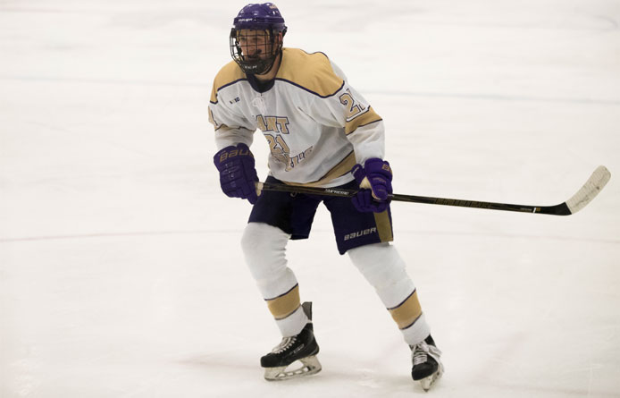 Purple Knights Rally From Three Down Before Falling to Saint Anselm, 5-4 in Overtime