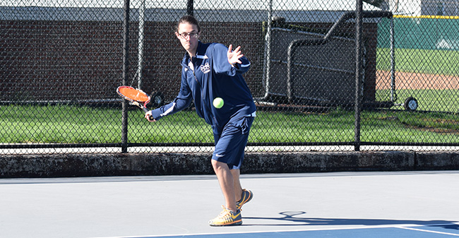 Men's Tennis Drops Landmark Conference Contest to Goucher