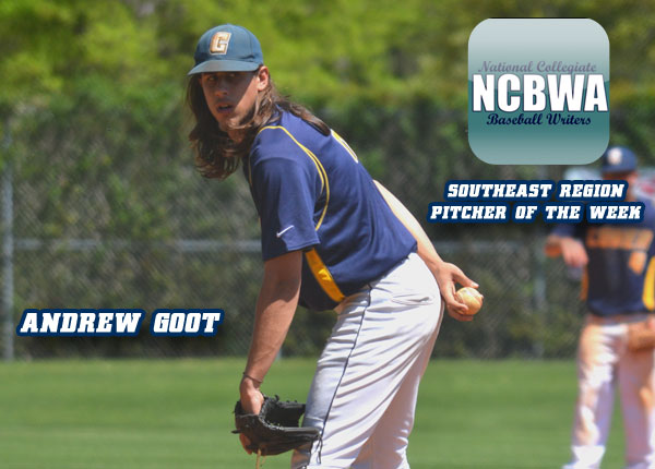 Goot Named NCBWA Southeast Region Pitcher of the Week