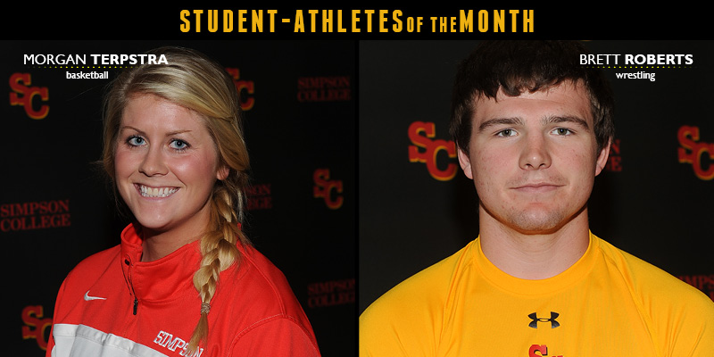 Terpstra, Roberts named January Student-Athletes of the Month