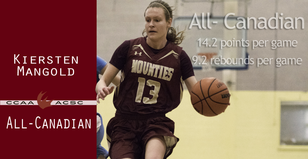 Kiersten Mangold Recognized as CCAA All-Canadian
