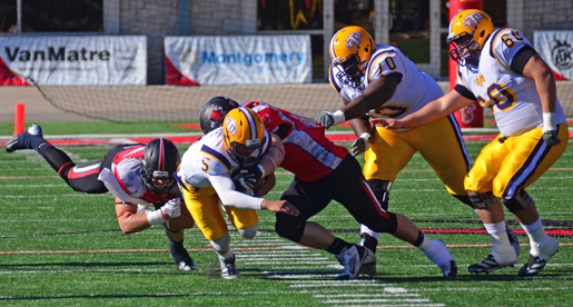 Stone, defense lead Golden Eagles to 41-16 win at SEMO; Brown ties record