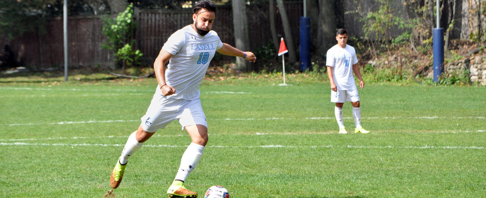 Men's Soccer Downs Anna Maria 2-1 in GNAC Opener