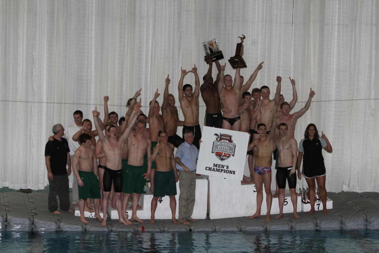Men 39 s swimming and diving win horizon league championship cleveland state university - Dive recorder results ...