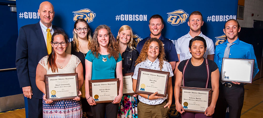 Gallaudet University student-athletes recognized at annual awards ceremony
