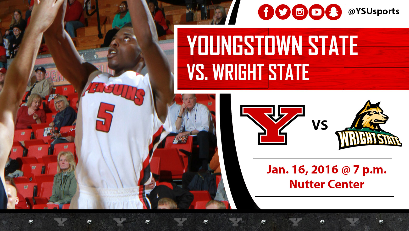 Sophomore Sidney Umude and the Penguins visit Wright State Saturday,