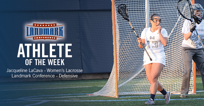 LaCava Named Landmark Conference Women's Lacrosse Defensive Athlete of the Week