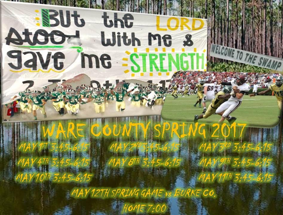 Spring Football Practice Dates and Game Released