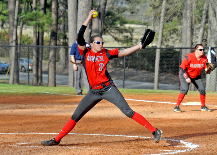 Lindsey Selph pitched a complete-game three-hitter in a 3-1 win over North Carolina Wesleyan on Friday. (Photo by Wesley Lyle)