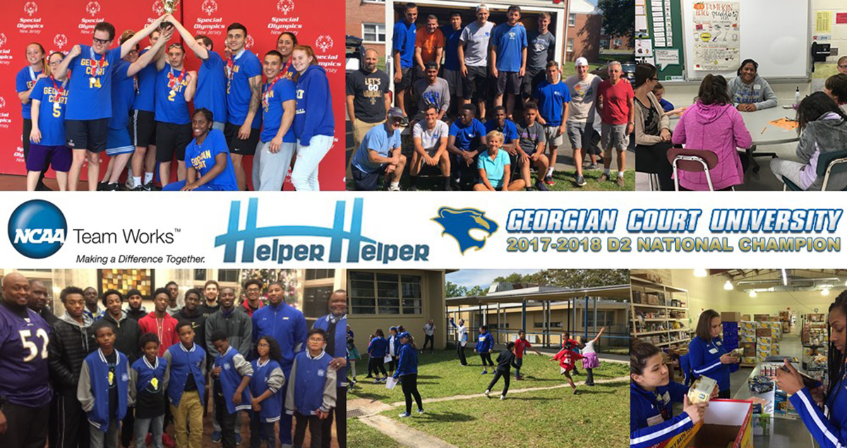 Georgian Court Repeats as NCAA Team Works Helper Helper Community Service Competition Award Winner