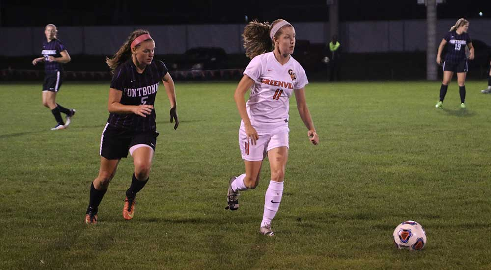 Women's soccer knocked from first place perch