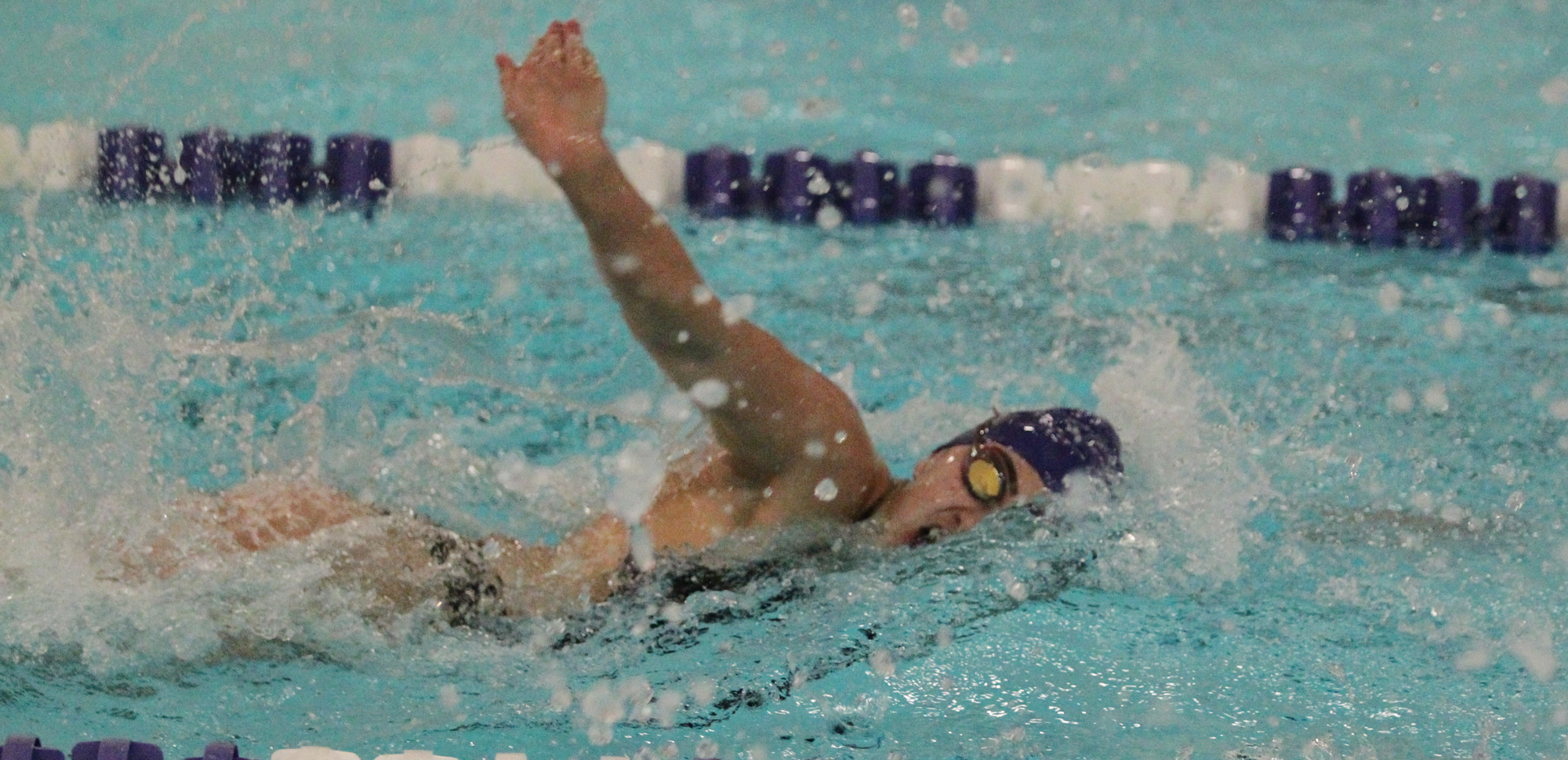 Audrey Campo won the 200 breaststroke on Saturday at Dickinson.