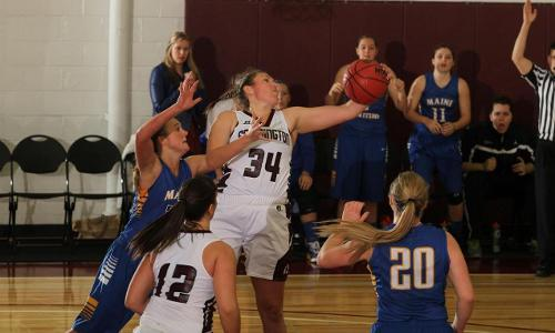 Ferry's Double-Double and Women's Hoops Fall Short at Husson