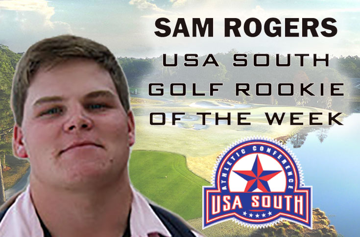 Golf: Sam Rogers selected as USA South Golf Rookie of the Week