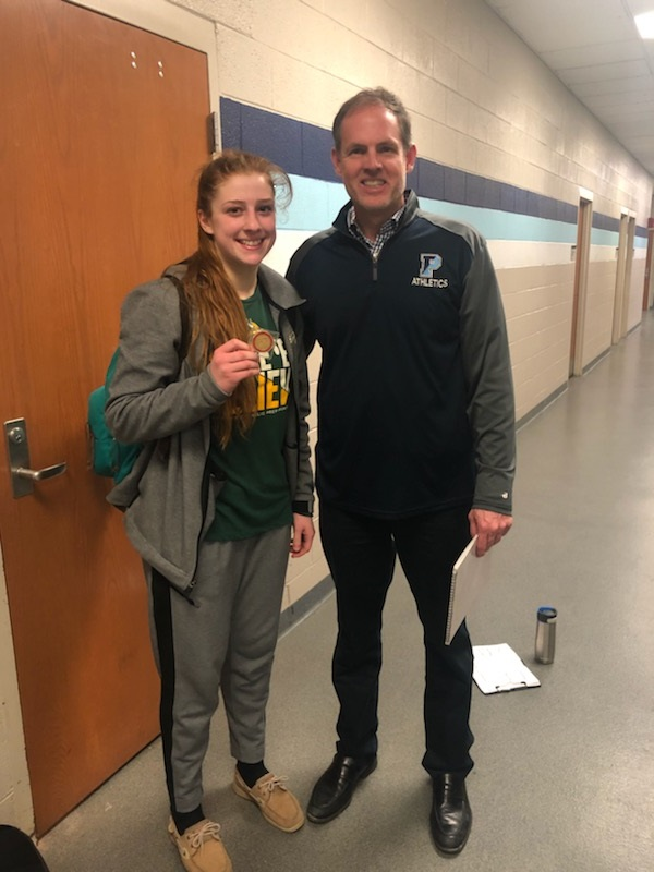 Character Coin Presented to Anna LeMaster, St. John's Catholic Prep Basketball