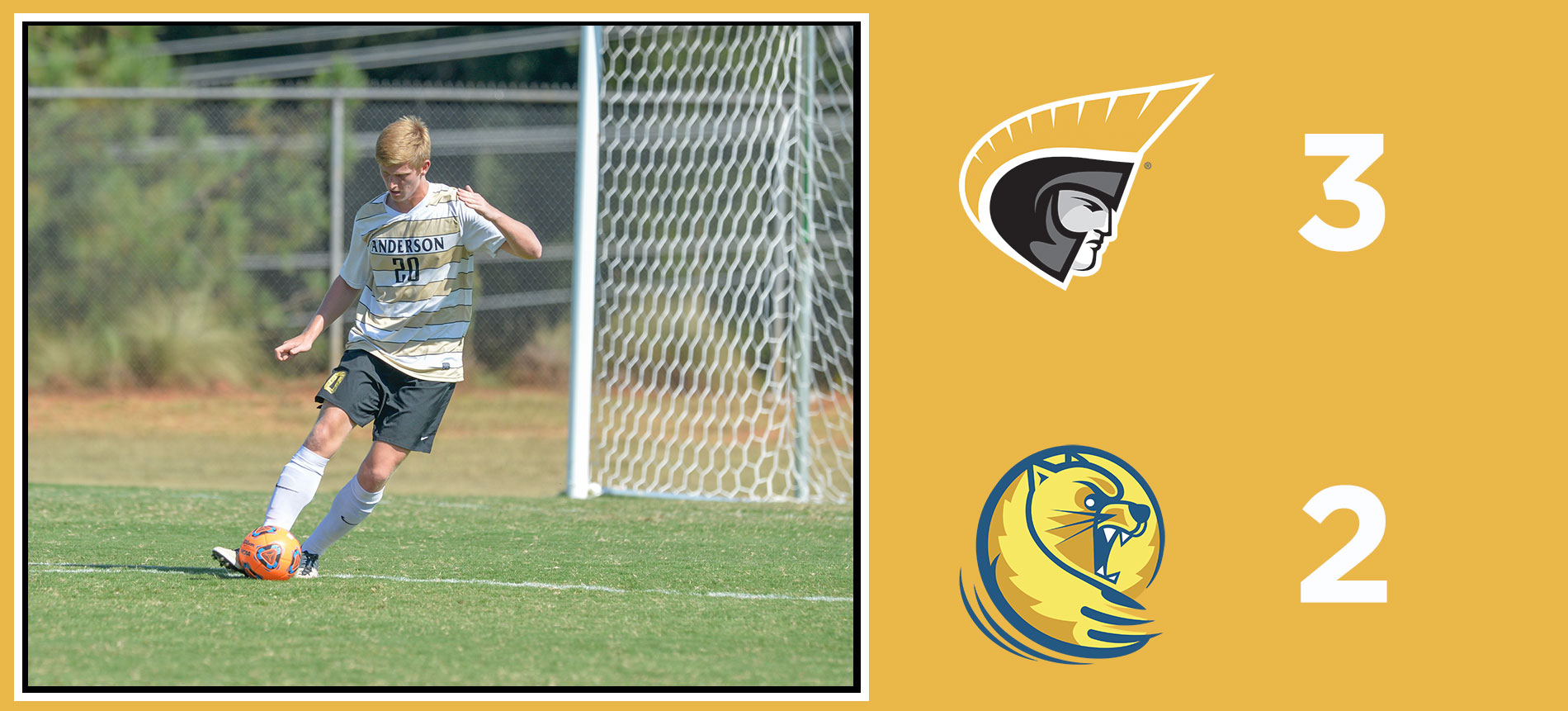 Men's Soccer Defeats Lander; 3-2