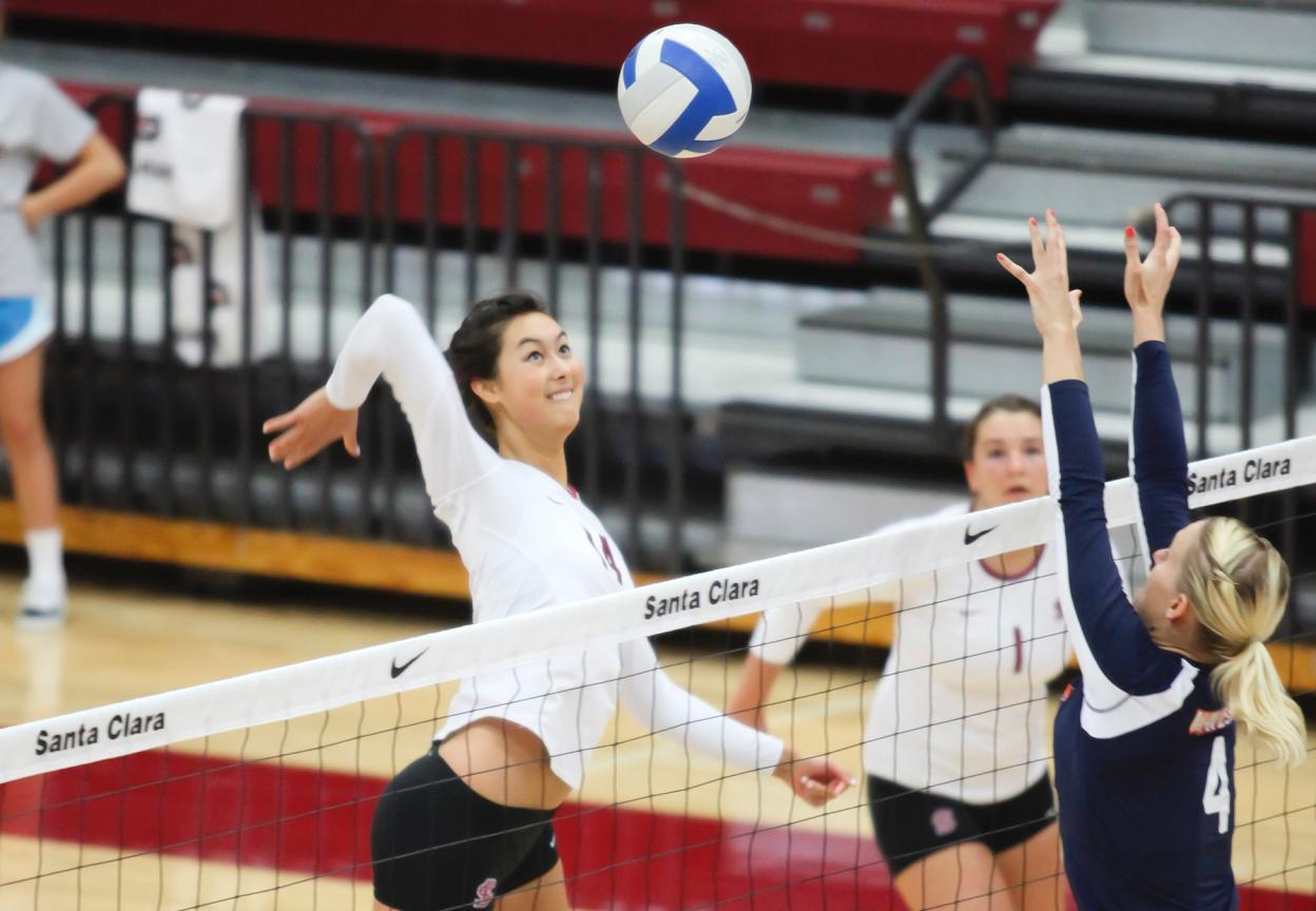 Volleyball Falls in Three at No. 18 San Diego