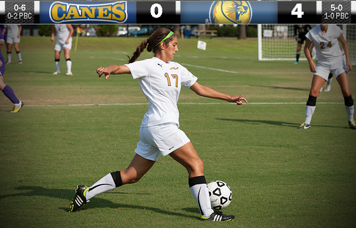 Lady Canes Fade In Second Half, Lose 4-0