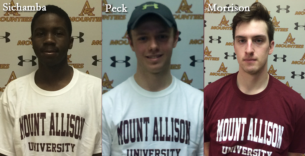 Mount Allison Mounties Men's Soccer program is pleased to announce the addition of three more new recruits