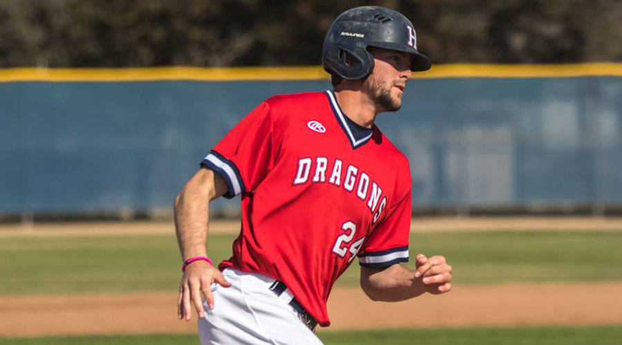 Brock Schaffer had career highs with four hits and five RBIs in a 21-7 Blue Dragon victory at NOC-Tonkawa on Monday in Tonkawa, OK. (Allie Schweizer/Blue Dragon Sports Information)