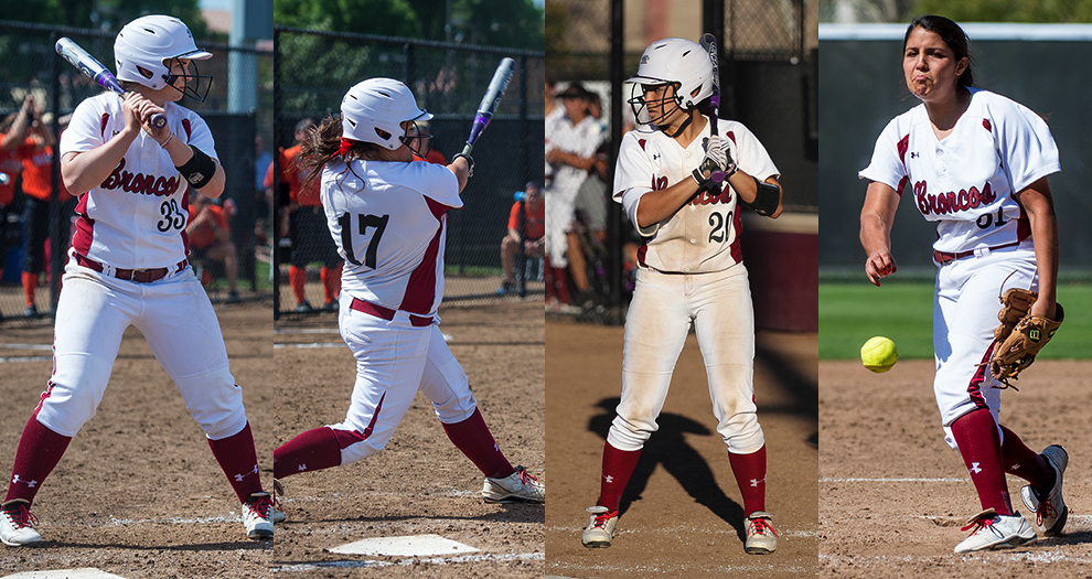 Four Bronco Softball Players Honored by WCC; Scribner Named Defensive Player of the Year
