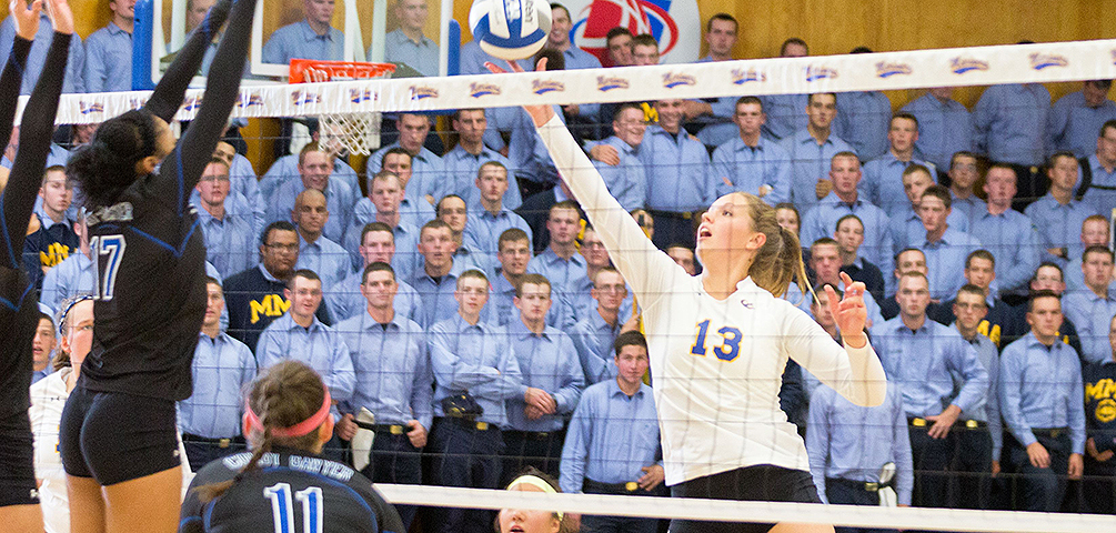 Mariners Fight Back for Five-Set Victory Over UNE