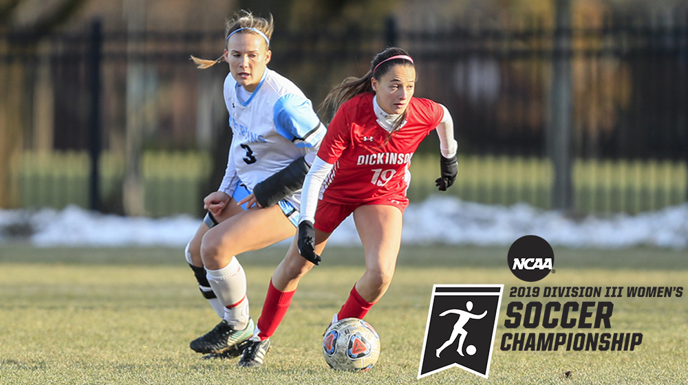 Ally Diaz dribbles upfield against Johns Hopkins in the NCAA third round