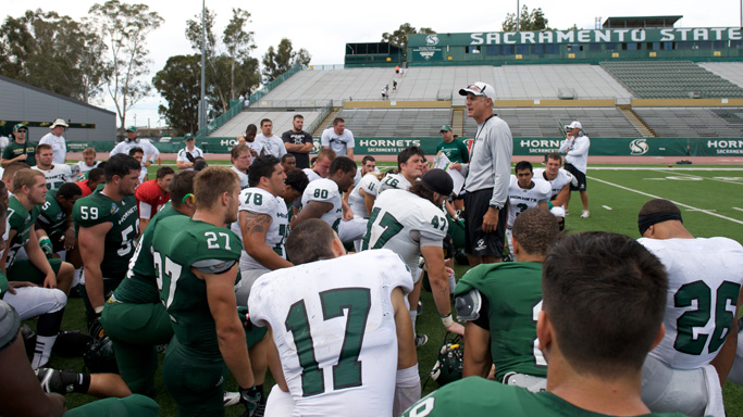 SHORT-HANDED FOOTBALL HOLDS SECOND SPRING SCRIMMAGE