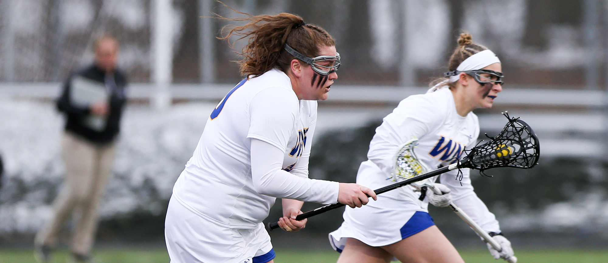 Eileen Ruby recorded six points in Western New England's 10-8 loss to WestConn on Monday. (Photo by Chris Marion)