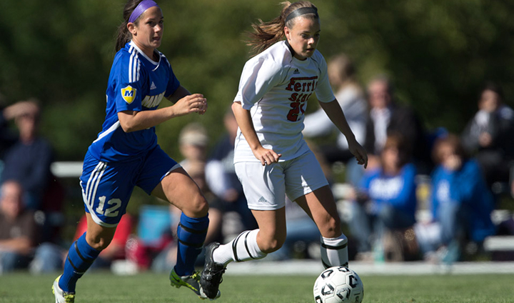 Ferris State Women's Soccer Drops One-Goal Game In Midland
