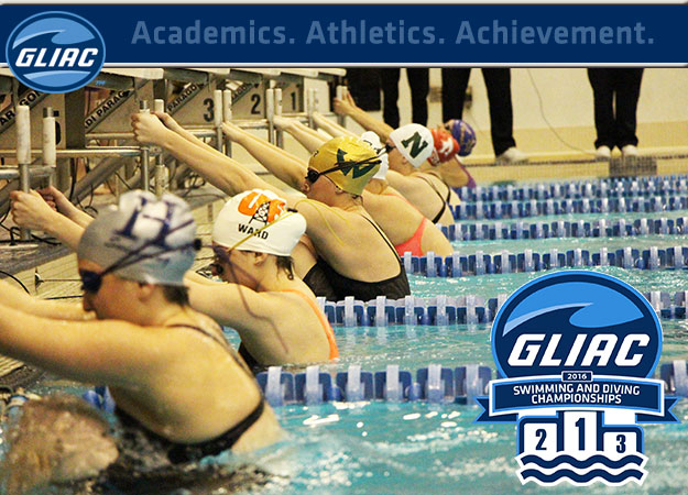 Warriors, Lakers Maintain Leads after Day 3 at GLIAC Swimming & Diving Championships