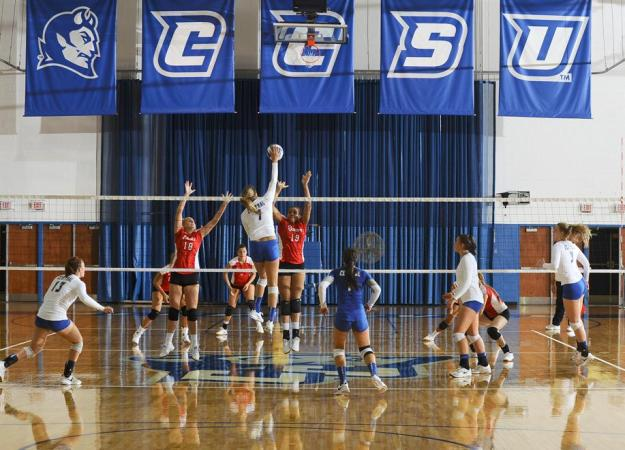 Volleyball Falls to St. John's in Four