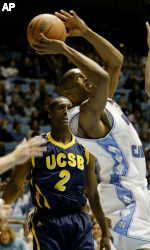 Gauchos Fall to Defending National Champion North Carolina, 83-66
