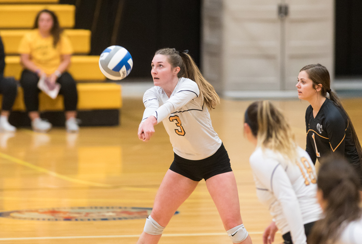Volleyball Rallies for 3-1 Victory over Bridgewater State