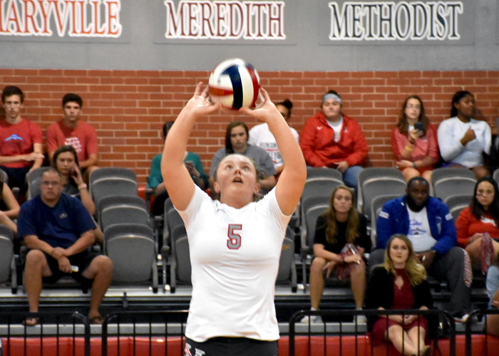 Ashley Murphy finished with 31 assists and 11 digs in Huntingdon's two matches on Friday.