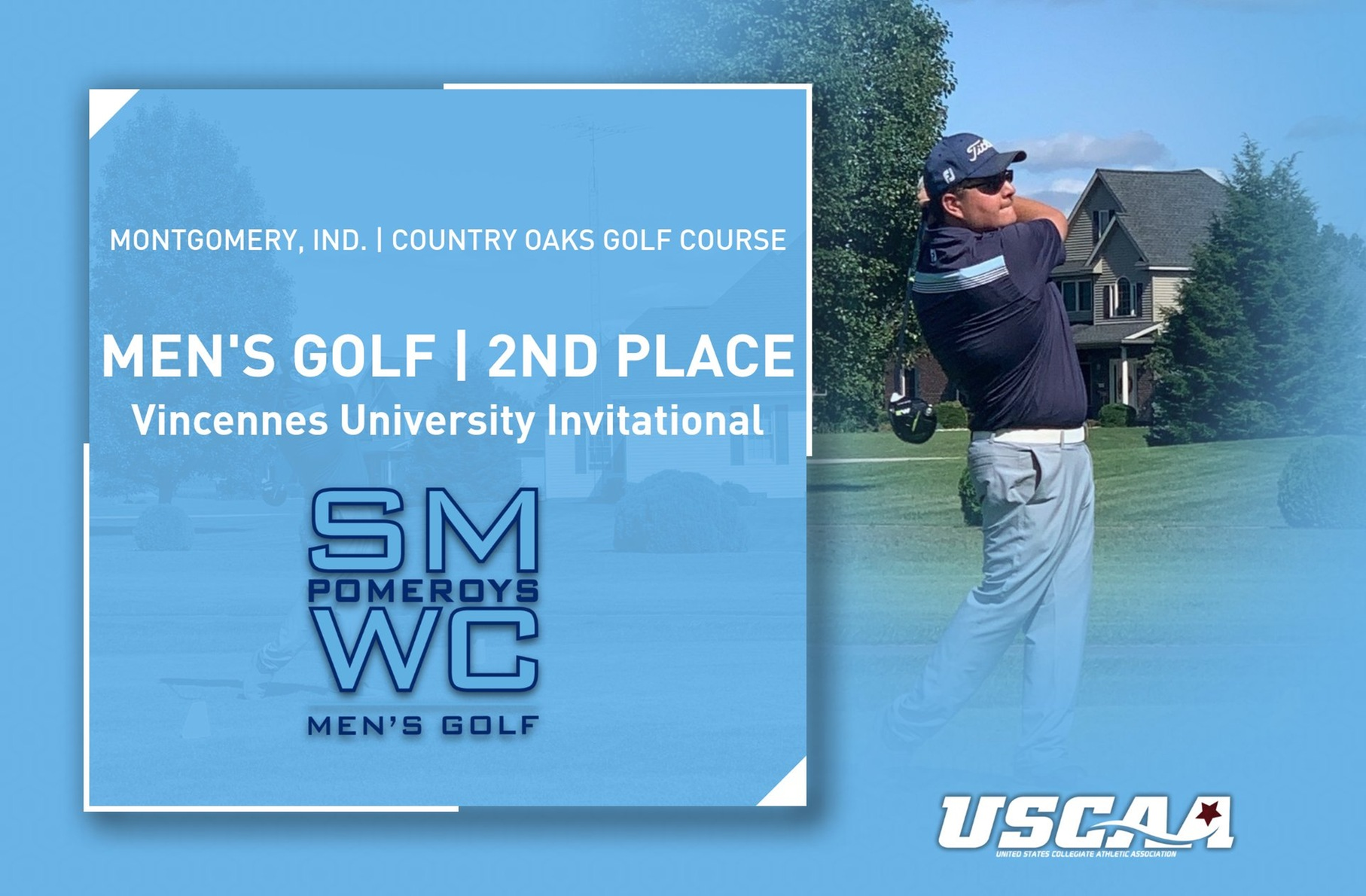 Men's Golf Places 2nd at Vincennes Invitational Behind Kuppler, Higbie