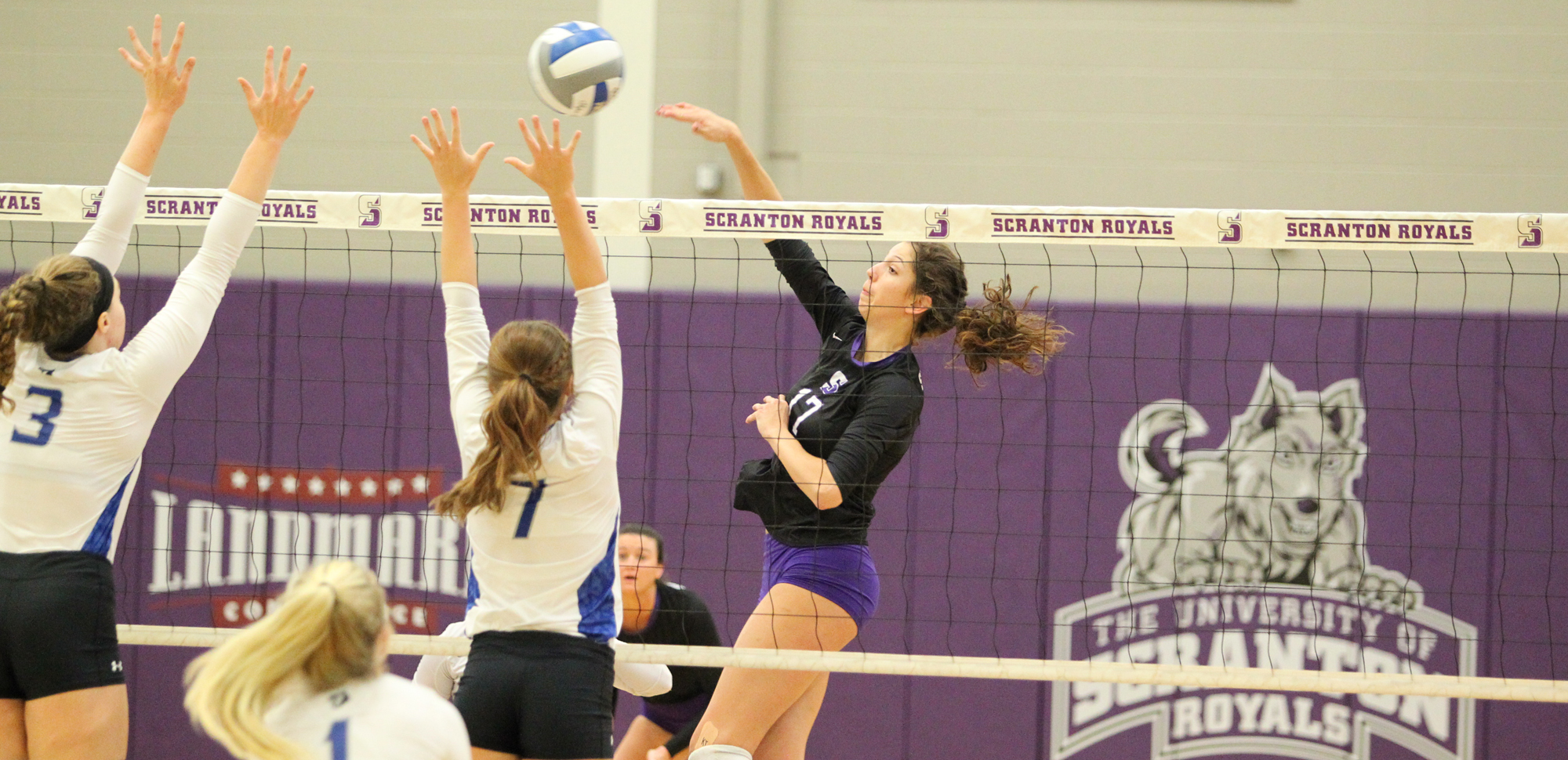 Eryn Boken had eight kills and four aces in Scranton's win over Elizabethtown on Saturday as the Royals swept its first two Landmark Conference matches of the season.