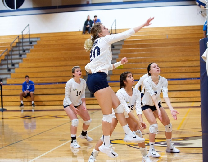 Women's Volleyball Handed Losses by Misericordia, Western Connecticut