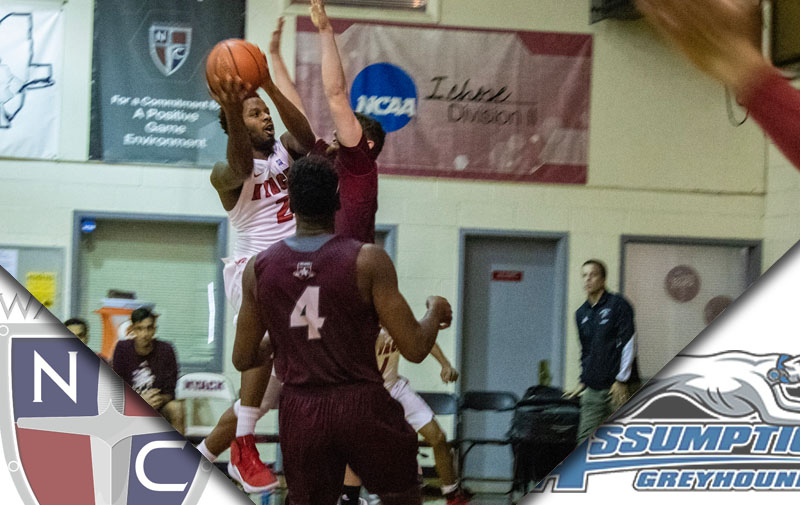 Men's Basketball Edged out by Assumption Greyhounds