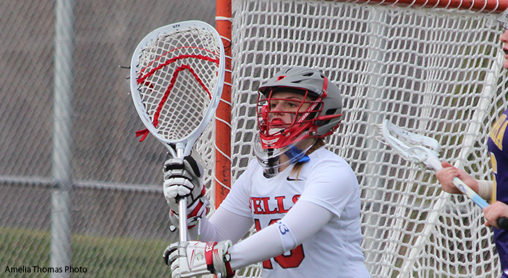 Wells Women's Lacrosse Outlasts SUNY Poly
