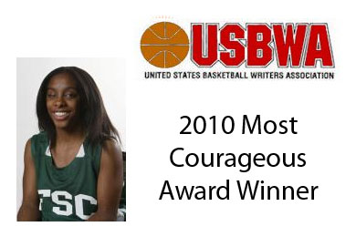 Steward Receives USBWA Most Courageous Award