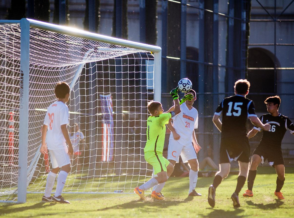 Feist Stops 13 Shots Against SCIAC Leader Oxy