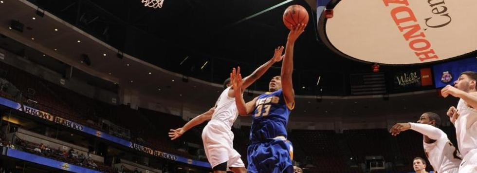 UC Santa Barbara's Orlando Johnson drives to the basket,